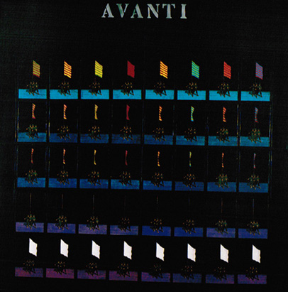 Avanti, painting over fine-art print, Jan Sawka, 1975