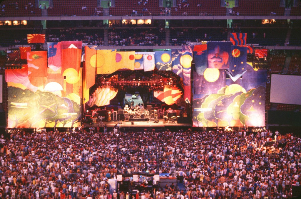 Jan Sawka's set for the Grateful Dead daytime view